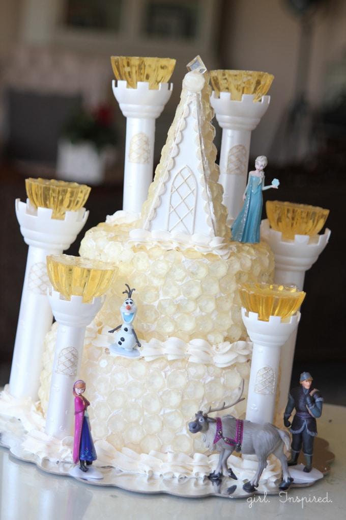 Queen Elsa Ice Castle Cake for Frozen Birthday Party