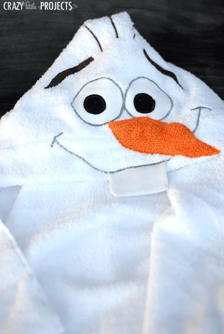 Olaf hooded towel tutorial