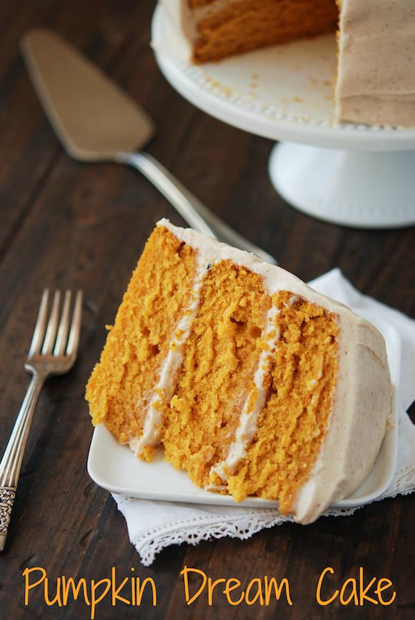 Pumpkin Desserts - Pumpkin Dream Cake
