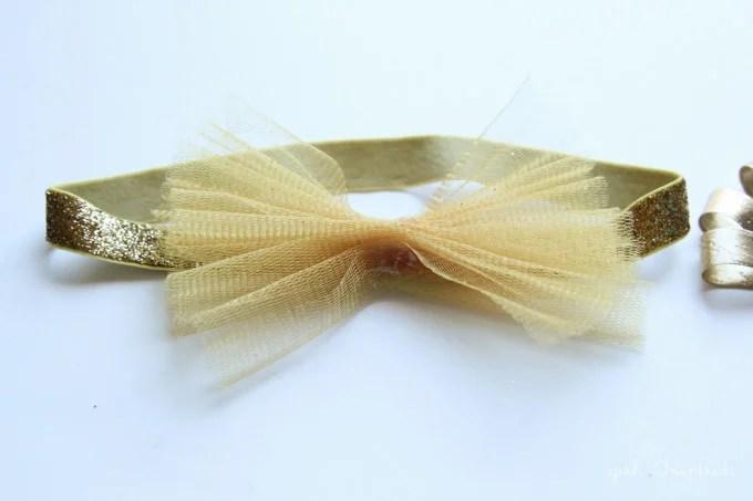Glitter Bow Headbands - Easy + no Sew
