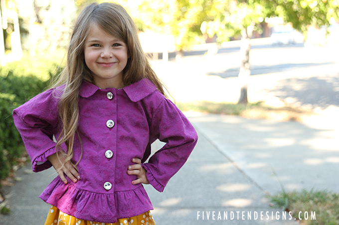 Children's Jacket Pattern Book - available at fiveandtendesigns.com