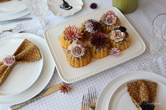 Flower Burst Mini Cakes - tiny flowers made from cardstock bring your party table to life!