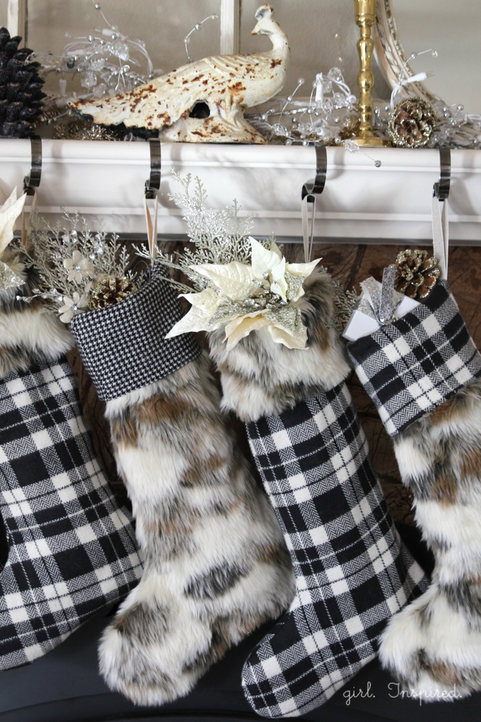 EasyPattern and Tutorial for Fur and Flannel Christmas Stockings | Girl. Inspired.