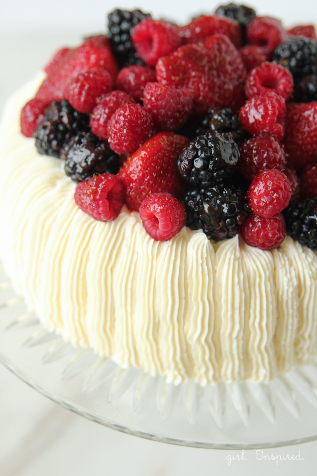 Stunning Berry Topped Cake - actually quite easy to decorate!