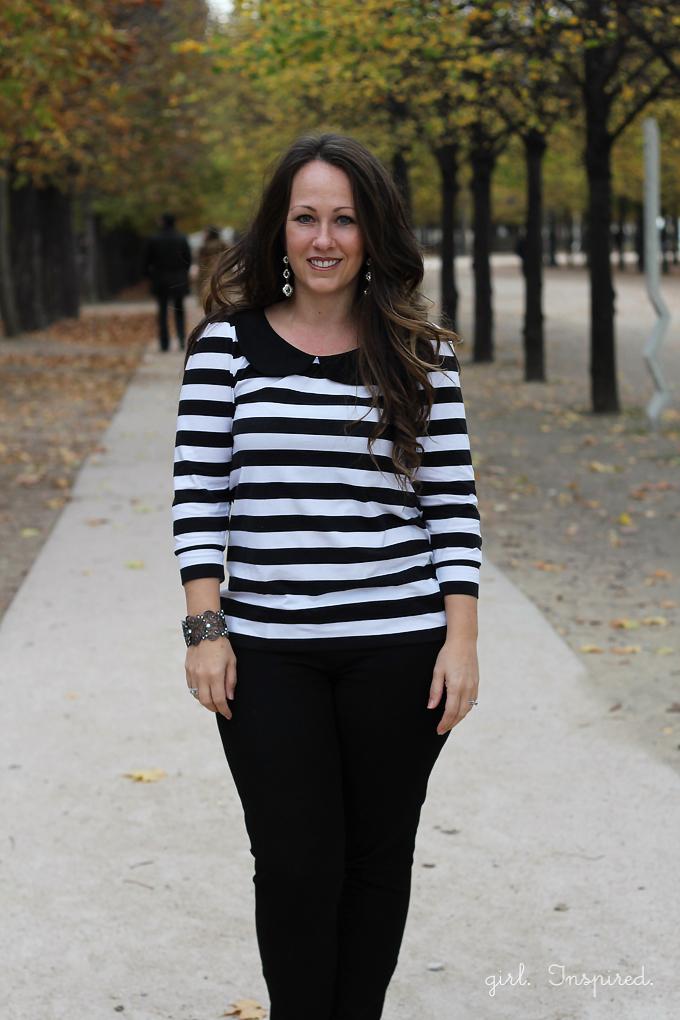 Easy to sew striped Parisian Top