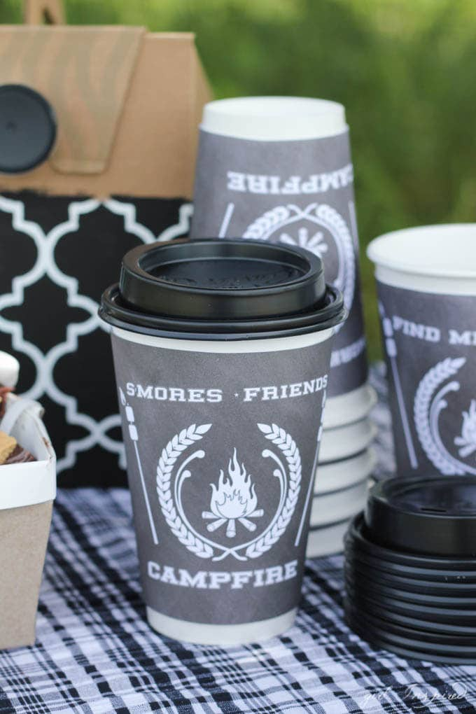 S'mores Party - cute printable hot cup sleeves!