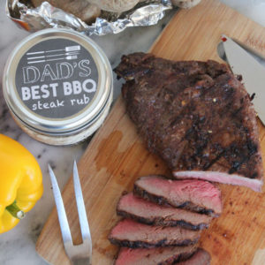 Perfect Grilled Steak Marinade - mix up this spice rub and give it as a gift or use it for the absolute best pepper marinade!