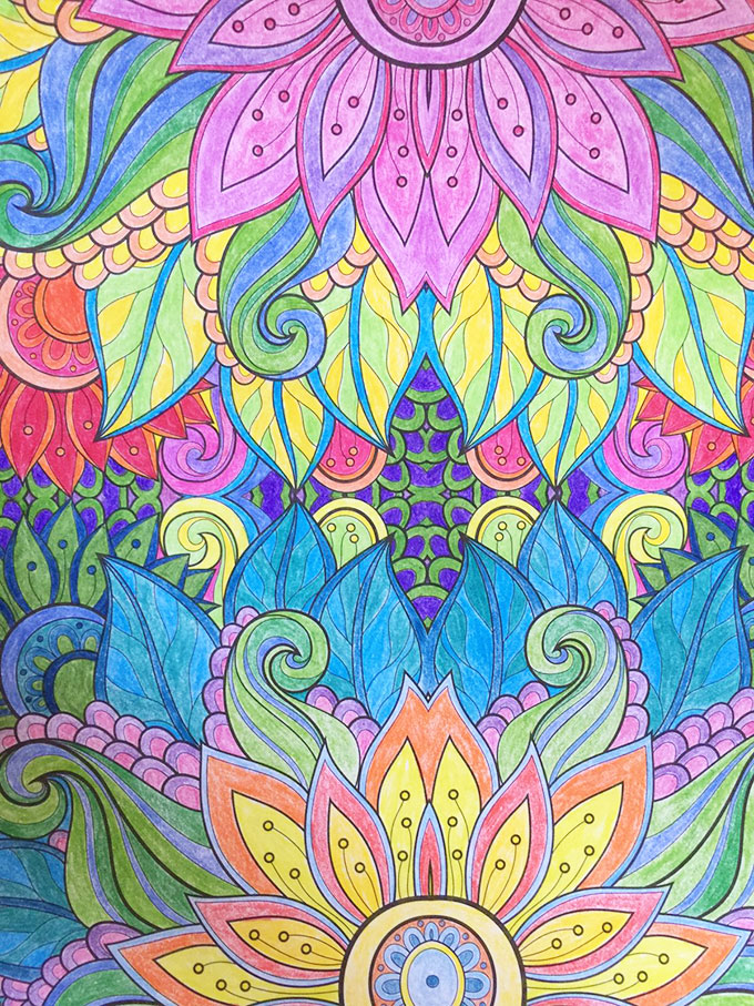 "Join the Adult Coloring Book trend - host a ""coloring"" crafter noon."