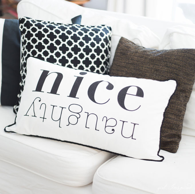 Create these festive and beautiful Christmas pillows with custom iron-on designs.