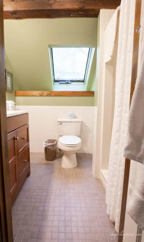bathroom at the Wildflower Inn