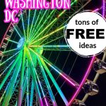 neon lit ferris wheel against black sky with text overlay