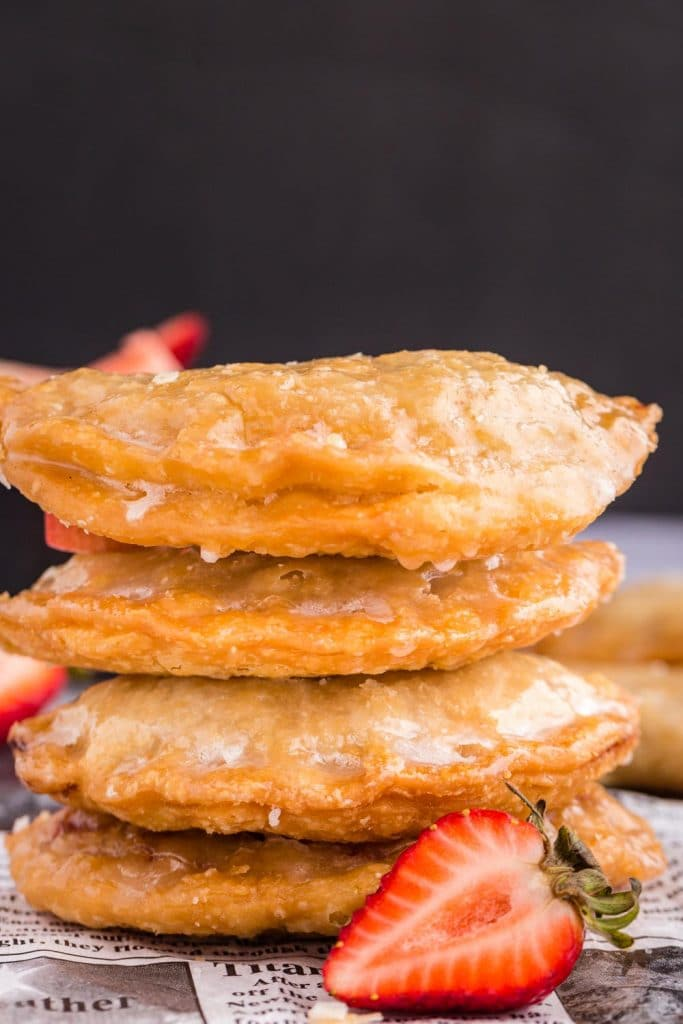 Stack of Strawberry Rhubarb Hand Pies