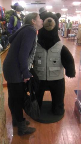 Becky has fallen for this bear