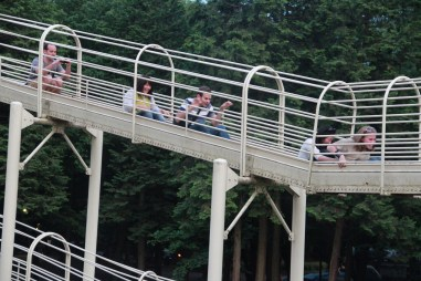 Adults on a Slide