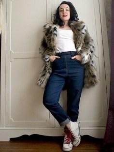Casual fur coat