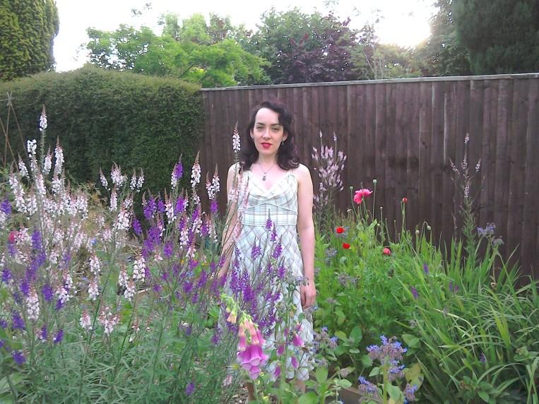 Fifties style halterneck dress