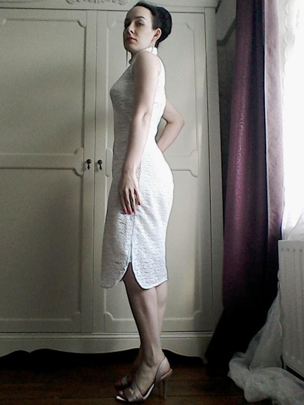 White lace Sixties dress
