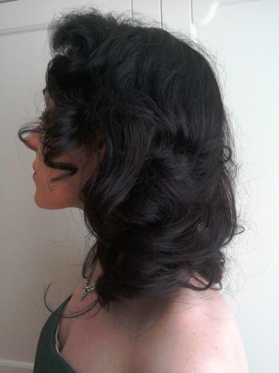 Forties Rita Hayworth/ Gilda hairstyle