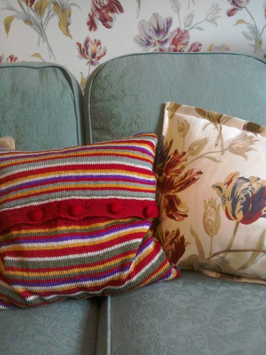 Stripe Bloomsbury style cushion cover