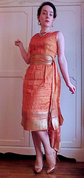 Fifties sari dress