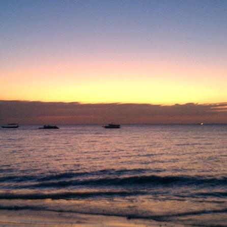 Sunset on the West Coast of Nungwi Zanzibar Beach | The Girl Next Door is Black