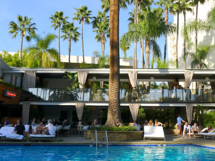 Roosevelt Hotel's Tropicana Bar pool Hollywood Los Angeles, California | The Girl Next Door is Black