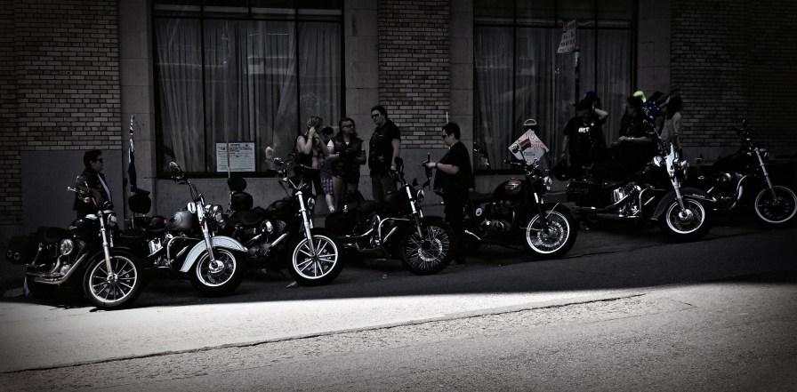 Bikers represented too.