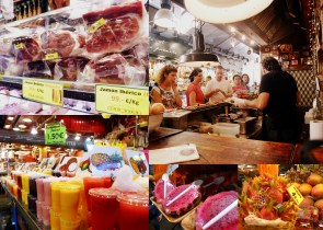 More scenes from La Boqueria market in Barcelona. It's just off La Rambla, a busy street in a touristy area. However, locals also shop at the market which has a diverse selection of foods.