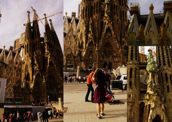 Gaudi's La Sagrada Familia church in Barcelona, Spain. One of the most visited sites in all of Spain. Construction has taken over 125 years and is still in progress. The design is so intricate and the attention to detail so impressive, you could stare at it for days.