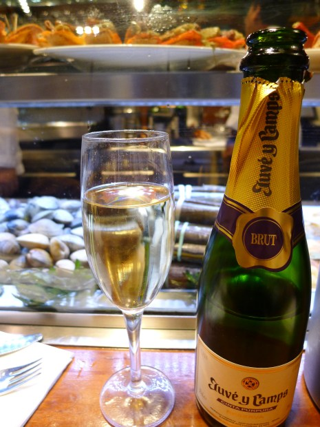 Cava, Spanish champagne, is a popular drink with Barcelona residents. I loved it; it was light, fresh and crisp.