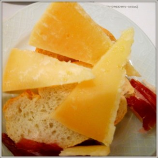 Manchego cheese and jamon serrano