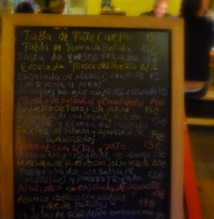 The menu changes daily. Our server patiently explained the Spanish dishes to us.