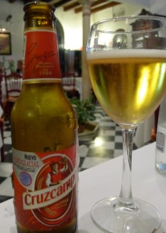 Cruzcampo is a popular and long established brewer founded in Seville. This pilsner reminded me of Heineken.