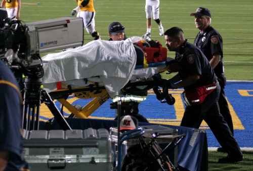 As a running back at Cal Berkeley, Jahvid Best sustained an epic concussion following a hit during a 2009 game. He later went on to play professionally for the Detroit Lions, where he sustained multiple concussions. Lately, he's said the NFL never should have drafted him given his history of brain injuries. Photo cr: J. M. Pavliga, flickr.com