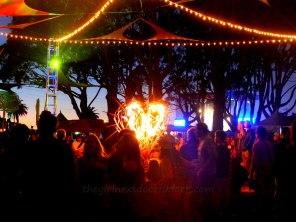 Treasure Island Music Festival Fire Heart | The Girl Next Door is Black