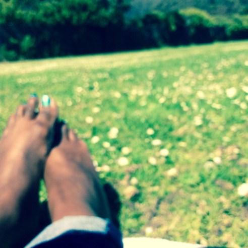Feet in the Park San Francisco   The Girl Next Door is Black