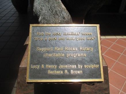 javelina sculpture arizona sedona