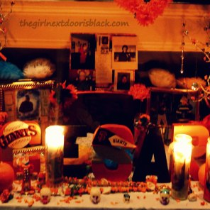 San Francisco Giants Altar Day of the Dead | The Girl Next Door is Black