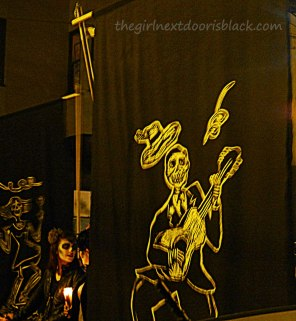 Skull Playing Guitar Banner | The Girl Next Door is Black