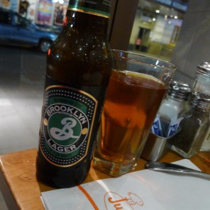Brooklyn Brewery Lager, Junior's Restaurant, New York | The Girl Next Door is Black