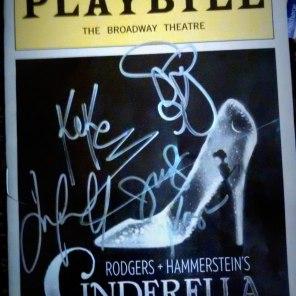 Cinderella Broadway Playbill Autographs   The Girl Next Door is Black