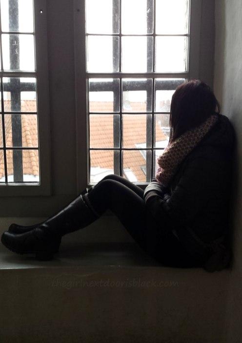 Girl in Window Rundetårn Copenhagen   The Girl Next Door is Black