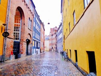 Colorful street in Copenhagen   The Girl Next Door is Black