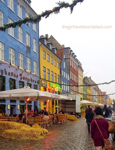 Nyhaven Colorful Fronts Copenhagen Denmark | The Girl Next Door is Black