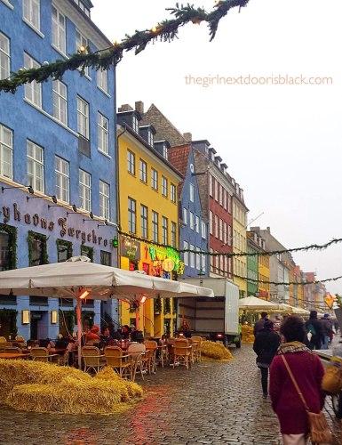 Nyhaven Colorful Fronts Copenhagen Denmark | The Girl Next Door is Black