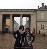 Friends at the Amalienborg Palace in Copenhagen, Denmark | The Girl Next Door is Black