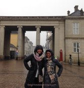 Friends at the Amalienborg Palace in Copenhagen, Denmark | The Girl Next Door is Black