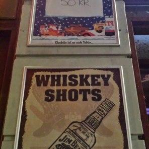 Whiskey Shots Ad Saloon Bar Copenhagen, Denmark   The Girl Next Door is Black