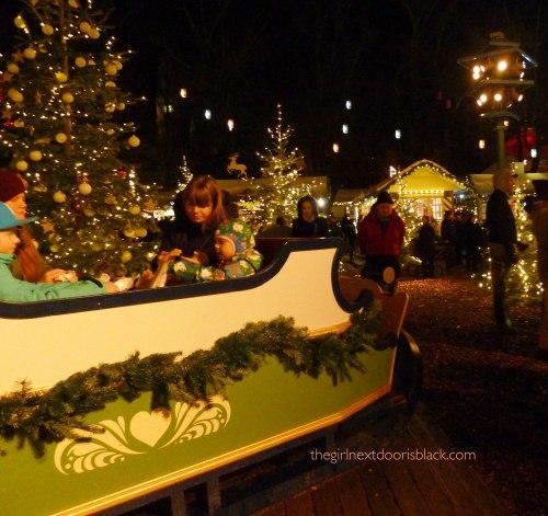 kids in sleigh Tivoli Copenhagen
