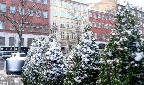Christmas snow Copenhagen